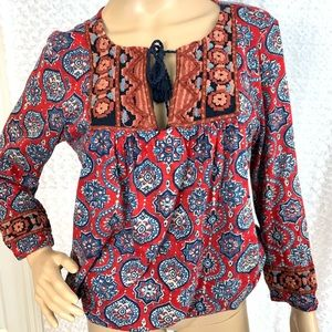 LUCKY Brand Embroidered BOHO Tunic